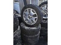 volvo c30 2014 17 INCH ALLOY WHEELS 5 STUD 205/55R16 TYRES SET OF FOUR