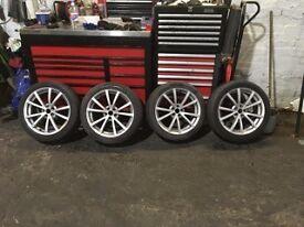 """Alfa Romeo 156 Ti 17"""" x 7j alloy wheels and tyres 5x98 et41 (alfa romeo, fiat etc)"""