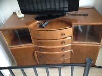 Dressing Table, bow fronted. Only £5 now, it has to go.
