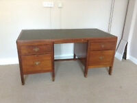 Leather Topped Directors Desk