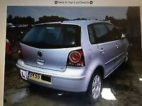 VW Polo 2006 1.4 Petrol Silver 5dr Breaking For Spares