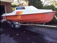 MISTRAL  16 SAIL BOAT  WITH Lockable Cabin & Trailer   $1600.