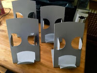 4 x Metal Leaflet display Stands - SIZE 1/3 A4 or DL Flyers - Shop Retail Office Advertising Classes