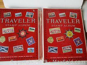Two Travelers Stamp Albums.
