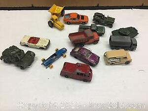 collection of 13 old DieCast cars