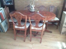 Dining table & Chairs
