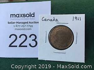 1911 Canadian Large Penny A