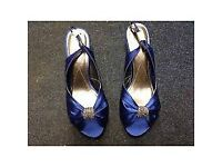 Sandal with heel Monsoon Royal Blue