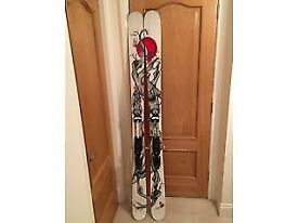 Line Mr Pollard's Opus 191cm skis with Salomon Guardian touring bindings. Used for 1 week only.
