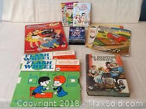 Lot Of Vintage Learning Materials, Books, And More