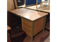 Brown Desk & Intergrated Draw Unit