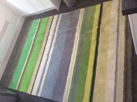 Grand et beau tapis pour salon vert, neuf