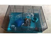 hamster cage, barely used, vgc