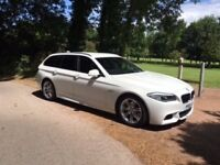 2012 520D M SPORT TOURING, RARE PEARL WHITE, MILEAGE JUST 38,000 WITH FULL HISTORY