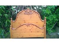 Quality carved pine double bed