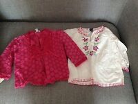 Two tops 12-18 months Monsoon and Gap