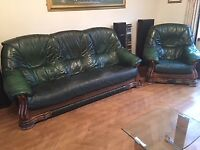 3 Piece Leather Sofa - Excellent Condition