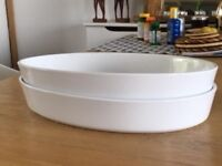 Ikea Oval Oven Dishes - White