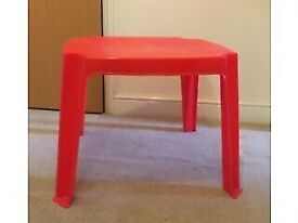 coffee table red square for kid plastic
