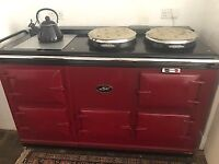 Excellent condition rare solid top 4 oven professionally converted electric Aga.
