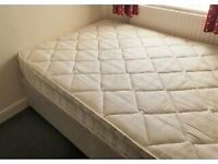 Single bed with mattress (hardly used)