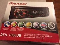 Pioneer DEH-1800UB CD RDS RECIEVER/AUTORADIO CD RDS WITH USB INPUT