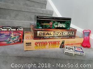 Lot of games and playing cards (including new dog bone shaped pack!)