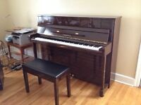 Yamaha apartment-size piano, model C113T