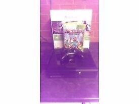 Xbox 360 with wireless controller, minecraft and all cables comes with original box.