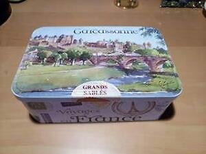Carcassonne Grand Sables France collectible cookie tin