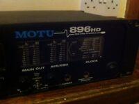 MOTU 896HD 192khz Firewire Digital Interface