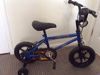 BOY'S BIKE, as new, not been used outside, 12inch wheels, suit 2+ years, great christmas present