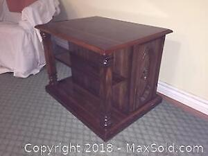Coffee Table /Cabinet with open side shelving and internal shelving