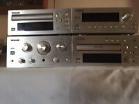 TEAC Stereo System H-300 Four Units with Remote Control Unit and Owner's Manuals. Bargain Price!
