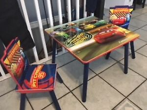Kids Cars Table & 2 Chairs