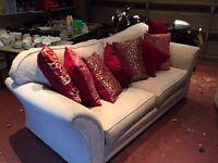2 large matching sofas