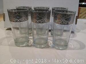 Blue and silver bar glasses - Cat A
