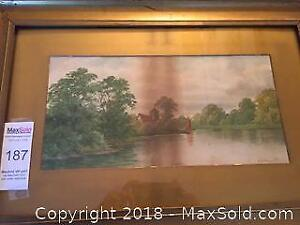 Watercolour Signed W.T.Franklyn