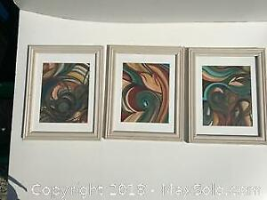 3 ORIGINAL PAINTINGS ~ ABSTRACTS