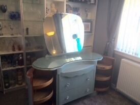 Gorgeous vintage Shrager double barrelled dressing table