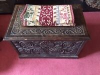 Arts and Crafts Coal storage boxseat with tin lining £175
