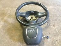 audi q7 sline steering wheel with air bag for sale complete call parts thanks