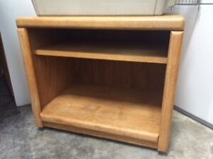 small TV table or end table on casters