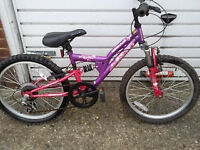 2 GIRLES BIKES 1 PINK BOTH 20 inch WHEELS GOOD WORKING GOOD £80