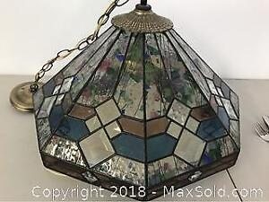 Hanging Stain Glass16 Inches. Glass Lamp