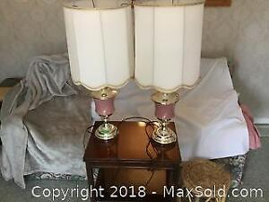 Pair Of Table Lamps, Side Tables