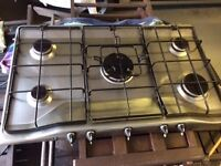 ZANUSSI 5 RING STAINLESS STEEL GAS HOB