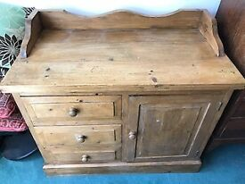 Solid Pine 3 drawer Chest with 1 cupboard