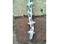 Ornamental 6.0mm x 50mm Spiked Steel Chain (Every Link) - £10