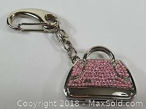 Watch In A Miniature Purse On A Key Chain